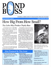 Pond Boss Magazine first issue