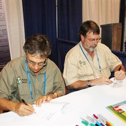 Mike Otto and Bob Lusk sign newest book