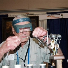 PB I George Glazener demonstrates fly tying